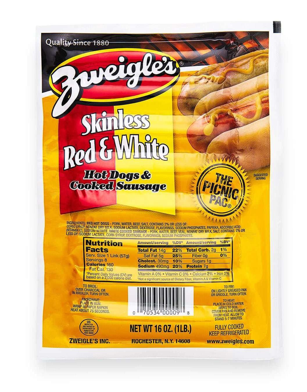 White Hot Dogs Wegmans