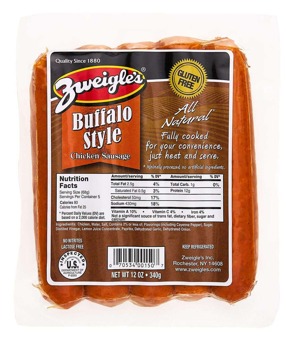 All Natural Buffalo Chicken Sausage