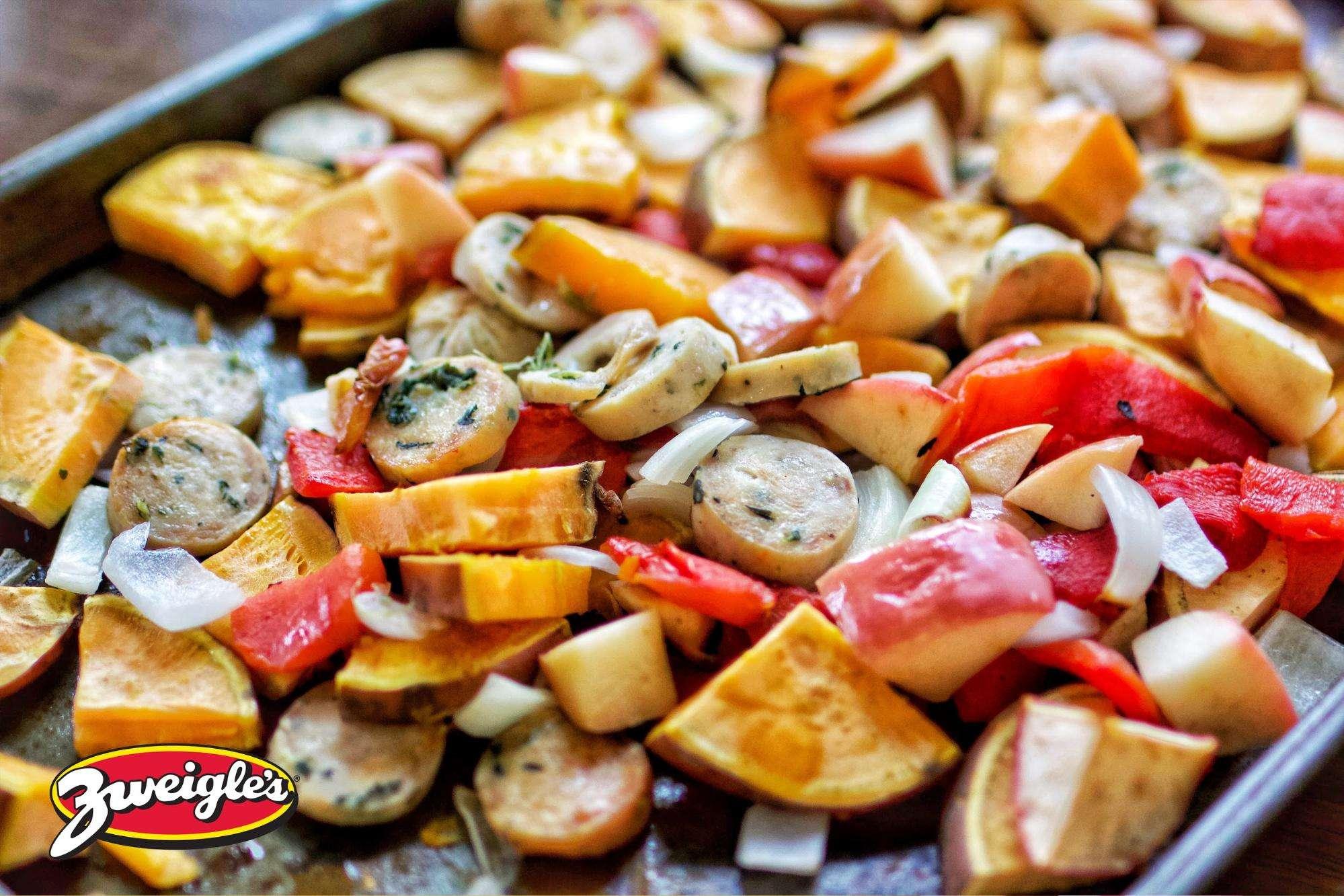 Zweigle's Easy One Pan Apple Chicken Sausage